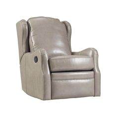 Bradington-Young Sebastian Leather Power Wall Hugger Recliner Upholstery: Finish: New Classiques Swivel Recliner, Swivel Glider, Leather Recliner, Contemporary Recliner Chairs, White Wash Fireplace, Espresso, Wall Hugger Recliners, French Chairs, Leather Furniture