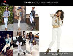 Além das calças de lavagens escuras, o denim branco também promete ser hit no inverno 2013. Para acompanhar as tendências mundiais, a People's Jeans traz um lançamento na sua nova coleção. Veja só!