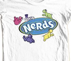 c9aa174df5b Nerds Willie Wonka t-shirt retro candy 100% cotton 80 s graphic tee - T