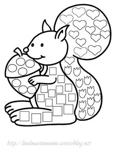 ecureuil Easy Crafts, Crafts For Kids, Arts And Crafts, Thanksgiving Coloring Pages, Dotted Page, Do A Dot, Colouring Pages, Kids Colouring, Woodland Theme