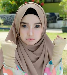 Hijabi Girl, Girl Hijab, Hijab Outfit, Beautiful Muslim Women, Beautiful Hijab, Muslim Women Fashion, Womens Fashion, Hijab Style Tutorial, Niqab Fashion
