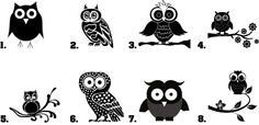 Nail Decals Art Set of 20 - Owl Silhouette in Health & Beauty | eBay