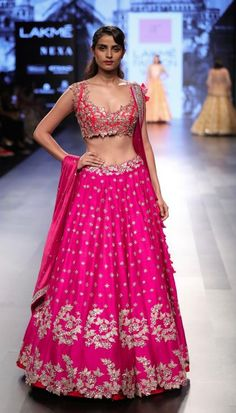 How stunning is this fuchsia pink lehenga by Anushree Reddy #Frugal2Fab