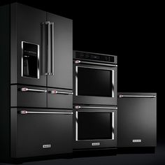 "KitchenAid has introduced their new line of black stainless steel appliances. While there is a complete family of products in this color offering (dishwasher, walloven, hood) the 5 door refrigerator is a true treat. It screams ""LOOK AT ME! I appeal to the appliance nerd in you!!"" I'm not ashamed to say ""YES, YES IT…"