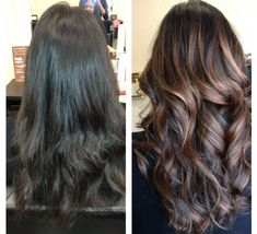 balayage hair before and after
