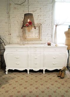 Painted Cottage Shabby White Romantic French Dresser Dr392