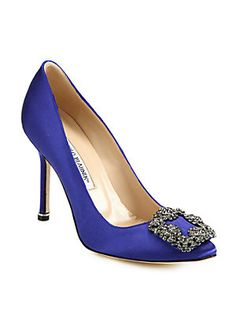 I have wanted these for my something blue ever since Carrie Bradshaw received them from Mr. Bigg----- Manolo Blahnik Hangisi 105 Satin Pumps