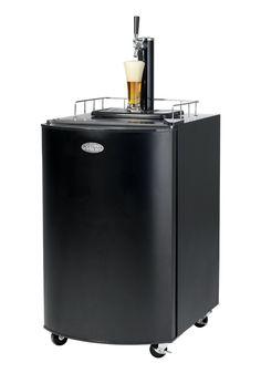 Full Size Kegorator Black Draft Beer Dispenser