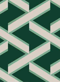 Les papiers peints tendances Papier peint géométrique Overscale Accent Curve (The Collection)