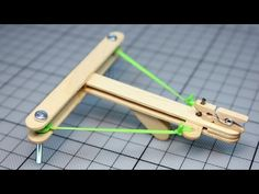 How to Make a Mini Crossbow with trigger out of popsicle sticks. How to make a Crossbow out of wood, easy and at home.