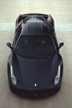 Ferrari 458 Italia. Car of the Day: 21 May 2015. Would nick-name Dark Knight :-)