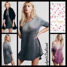 Check out FREE PEOPLE (L) Tunic Pullover Tanna Peached Out Bliss Tunic on Threadflip! Free People Tops, Shirt Dress, T Shirt, Bliss, Tunic, Pullover, Check, Dresses, Fashion