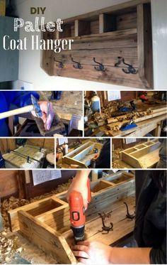 How to build an easy DIY coat hanger from pallet wood @istandarddesign