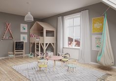 Inspiring Modern Kids Room Designs Which Brimming Quirky and Colorful Decor Inside - RooHome | Designs & Plans