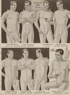 Vintage Fashion: Artifacts From Years Gone By - Popular Vintage Vintage Corset, Vintage Underwear, Long Underwear, Vintage Men, White Underwear, Vintage Dress, Vintage Signs, Vintage Style, 1950s Fashion