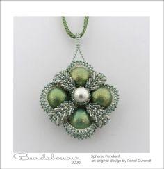 Spheres Pendant | Etsy Rings N Things, My Property, Bead Store, Beautiful Patterns, Beading Patterns, Seed Beads, Pendants, Detail, Stuff To Buy