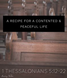 In the Word: A Recipe for a Contented