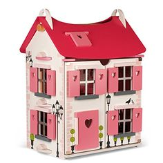 Janod Mademoiselle Wooden Dollhouse, Furniture, and Doll Set Cot Bed Mattress, Cot Bedding, Wooden Dollhouse, Dollhouse Dolls, Dollhouse Ideas, Doll Furniture, Dollhouse Furniture, Childrens Dolls, Attic Rooms