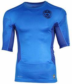 NIKE Nike Men'S Pro Combat Hypercool Compression 2.0 Football Shirt-Blue. #nike #cloth #