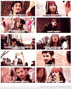 Captain Hook And Captain Jack Sparrow ... The similarities are awesome, I never realized! lol