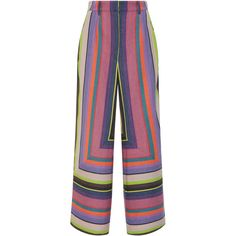 Mara Hoffman Aura High Waisted Pant (18.495 RUB) ❤ liked on Polyvore featuring pants, flat front pants, high waisted trousers, high-waist trousers, relaxed pants and relaxed fit pants