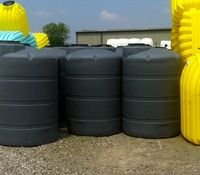 1000 Gallon Hdpe Above Ground Tank Made In Ohio Color Black Green Storage Tanks Gallon Drainage Channel