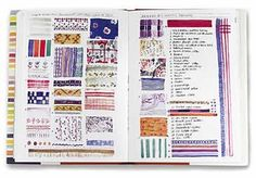 Sara Midda - South of France - look for a variety of textures and designs to put into your art journal.