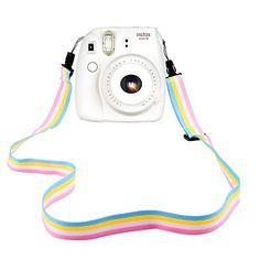 Elvam Camera Neck Shoulder Strap Belt in Rainbow Blue Yel...