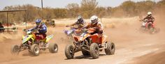 Racing the Quad, Alice Springs (#ParkMyVan #VanHire #JethroBatts www.parkmyvan.com.au)
