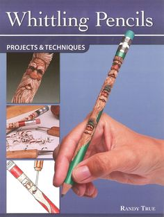 Whittling Pencils: Projects and Techniques (Fox Chapel Publishing) Learn the Slender Craft of Pencil Carving with Step-by-Step Instructions for a Santa, Wood Spirit, Leprechaun, & Uncle Sam Whittling Knife, Whittling Wood, Pencil Carving, Whittling Projects, Dremal Projects, Project Ideas, Pencil Crafts, Bone Crafts, Wood Carving Tools
