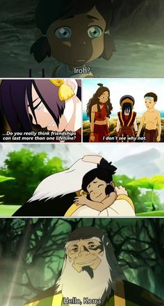 The Legend of Korra/ Avatar the Last Airbender: friendships lasting more than one lifetime