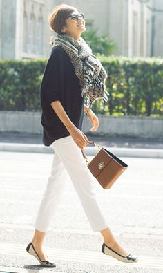 61 Ideas for style black and white casual Office Fashion, Work Fashion, Fashion Pants, Daily Fashion, Spring Fashion, Winter Fashion, Fashion Outfits, Womens Fashion, Fashion Trends