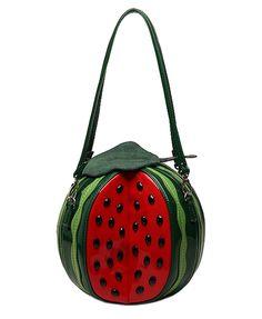 b6991ffa1aa Rural Style Watermelon Shaped Contrast Color Shoulder Bag Shoulder Handbags
