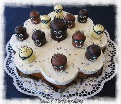"""Eve's Kinder-Rezepte: Mohrenkopf-Torte mit """"Minions"""" (Gastartikel Nr.6)"""