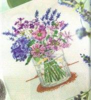 "Gallery.ru / BelleBlue - Альбом ""Цветы 4"" Cross Stitch Patterns, Hipster Stuff, Cross Stitch Designs, Counted Cross Stitch Patterns, Embroidery Patterns"