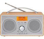 curry's -  LOGIK L55DAB15 Portable DAB/FM Clock Radio - Silver & Wood  29.99