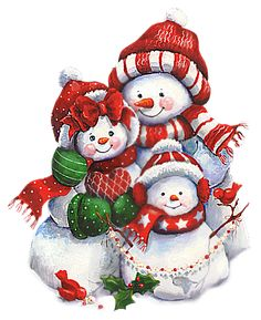 Alfabeto animado de familia de muñecos de nieve. | Oh my Alfabetos!