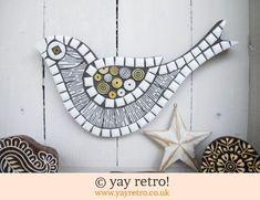 Kathie Winkle Mosaic Bird (white) (£26.00)