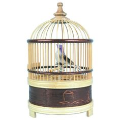 "$14.95-$11.99 Singing Bird Cage - Music boxes have been a classic childhood favorite for generations. This little birdie comes in a pretty bamboo cage and tweets (and tweets!) when you wind it up. For ages 8 and up. Size 7-1/2""H x 4""W. http://www.amazon.com/dp/B000ELOS0I/?tag=pin2pet-20"