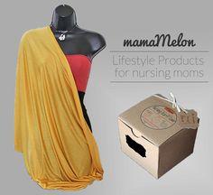 Nursing Scarf gold/ yellow/ mustard 3 in 1 Nursing by MamaMelonBC Nursing Scarf, Breastfeeding Cover, Menstrual Pads, Cloth Pads, Starter Kit, Mustard, Infinity, Yellow, Gold