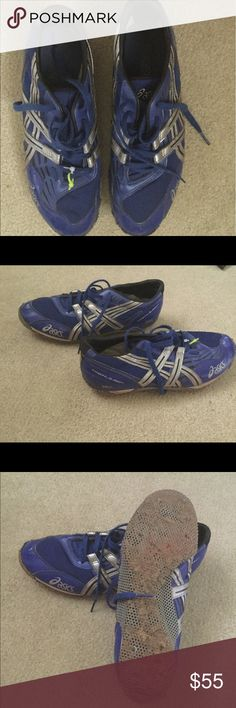 Shoes High jump spikes, worn one season still have the spikes. ASIC in good shape no tears and the soles are good. Still have a lot of use left. Asics Shoes Athletic Shoes