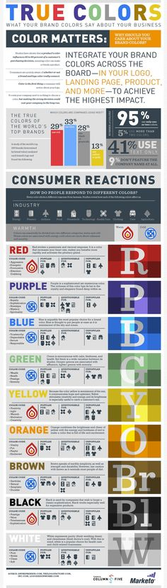 Infographic: The most-popular colors among top brands
