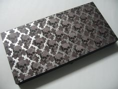 Gothic Gray Black and Silver Foil Skull Magnetic Makeup Palette by BitterLaceBeauty