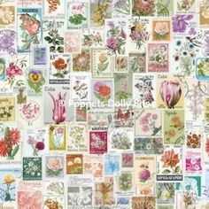 Wall paper designed to look like vintage postage stamps Doll House Wallpaper, Cool Wallpaper, Adhesive Wallpaper, Pattern Wallpaper, Vintage Stamps, Vintage Labels, Decoupage, Postage Stamp Art, Pretty Designs