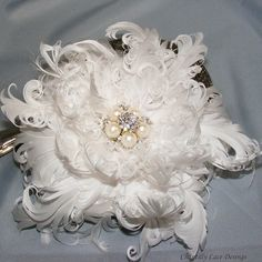 Curled Goose Feather Flower Fascinator