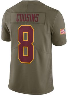 Nike Men s Kirk Cousins Washington Redskins Salute To Service Jersey Kirk  Cousins b3a285f6a