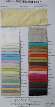 grayline linen... handkerchief linen...