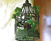 Ivy covered birdcage