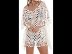 crochet beach outing poncho summer blouse all sizes Crochet Beach Dress, Crochet Summer Dresses, Crochet Blouse, Crochet Poncho, Crochet Bikini, Crochet Pouf, Crochet Lace, Crochet Braid Styles, Crochet Videos