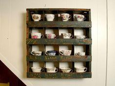 nice tea cup display